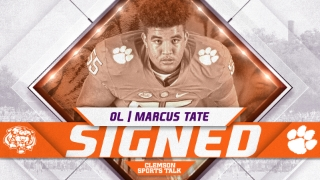Highly-touted offensive lineman Marcus Tate signs with Clemson