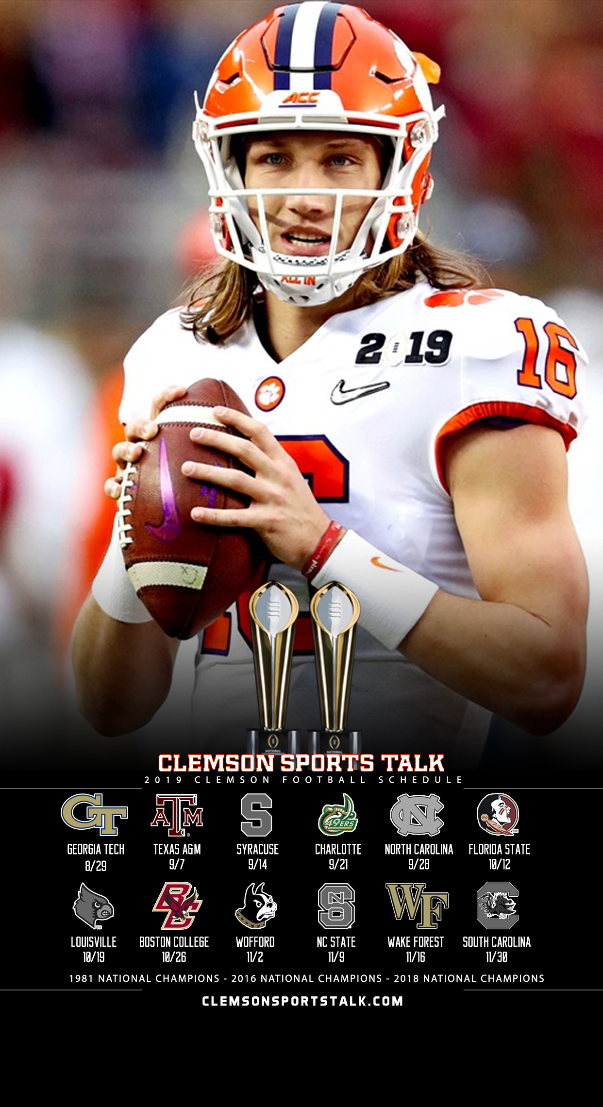 Talk Clemson 2019 | Wallpapers Clemson Sports Schedule